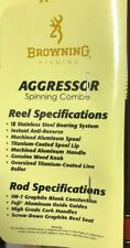 Browning Aggressor Spin Spinning Rod 6' 2 piece Fishing GRAPHITE ROD