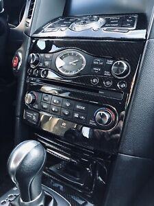 BLACK Aluminum Radio & A/C Knobs for Infiniti G37 G35 FX37 FX50 QX70 EX37