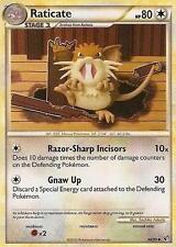 x4 Raticate - 34/90 - Uncommon Pokemon Undaunted M/NM English