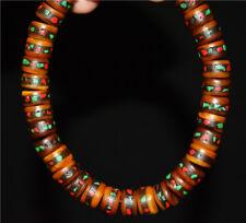 tibetan antique kapala bracelet coral prayer beads old genuine turquoise rosary