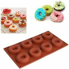 8 Cavity Silicone Mini Doughnut Pan Muffin Cups Cake Baking Ring Biscuit Mold