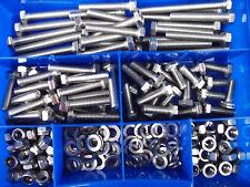 530 pièces M7 taille six pans (HEXAGONAL) Lot DIN 933 - vis - écrous mélange