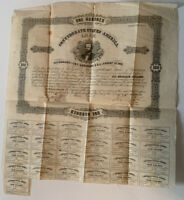 1861 Confederate States of America Richmond $100 Bond Civil War Era