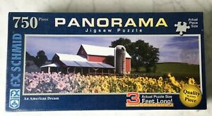 F.X. Schmid An American Dream Panoramic 3 Feet Long 750 Piece Puzzle - New