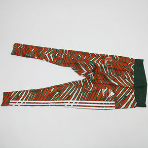 Miami Hurricanes adidas Alphaskin Compression Pants Men's New without Tags