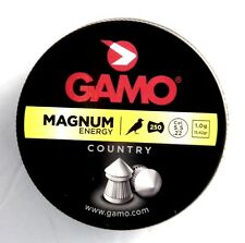 GAMO 250pcs Pointed Pellets .22 Cal 5.5 mm Magnum Energy COUNTRY 15,42 grain