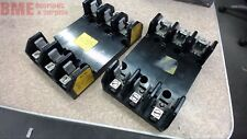 LOT OF 2 BUSS H60030-3C FUSE BLOCK HOLDERS 30 AMP, 600 VAC
