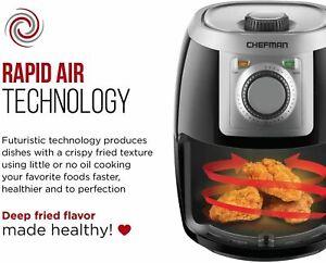 Chefman 2.1qt Personal Analog Air Fryer Black Silver