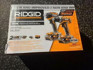 R9603 RIDGID Lithium-Ion 18-Volt Cordless Drill/Driver, Impact Driver Combo Kit