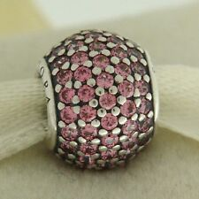 Authentic Pandora 791051CZS Fancy Pink Pave Lights Sterling Silver Bead Charm