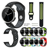 New Bracelet Silicone Sport Band Watch Strap for Moto 360 2nd Gen 46mm 42mm