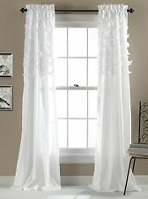 Luxurious White Color Window Curtains, 84 by 54-Inch, Set of 2 New.