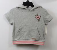 HUDSON Infant Girls Hoodie Sweatshirt Gray Coral size 18 months