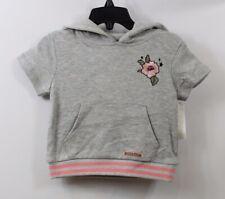 HUDSON Infant Girls Hoodie Sweatshirt Gray Coral size 18 months
