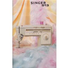 Singer Sewing Machine Manual 513 Year 1973