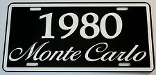 1980 80 MONTE CARLO METAL LICENSE PLATE 350 400 454 SS LOWRIDER NASCAR CHEVY