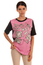 RRP€170 MOSCHINO CHEAP AND CHIC T-Shirt Top Size 42 / M Printed Made in Portugal