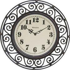 "New Westclox 32021 12"" Round Wrought Iron Quartz Wall Clock 3953874"