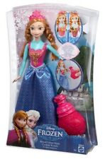 "NEW Disney Frozen Royal Color ANNA 12"" Doll Dress changes colors by Mattel"