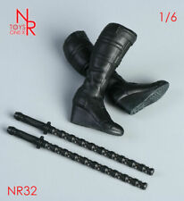 NRTOYS 1/6 NR32 Black Widow High Heels Solid Boots W/Electric Baton Model Toy