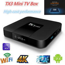 TX3 mini TV BOX Quad Core Android 7.1 WiFi Amlogic S905W 4K S905W 1G 8G T4W2K