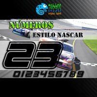 Numeros adhesivos dorsal pegatinas sticker vinilo coche cross moto cross racing