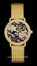 AUTHENTIC GUESS LADIES FLORAL WILLOW WATCH W0822L2 GOLD TONE RRP:$439 BRAND NEW