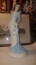 A Belcari Capodimonte Dear 1991 Figure of a Society Lady in a Blue evening Dress