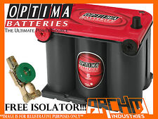 OPTIMA 75/25 RED TOP AGM DRY CELL SEAL CRANKING POWER BATTERY 720CCA/910CA/44Ah
