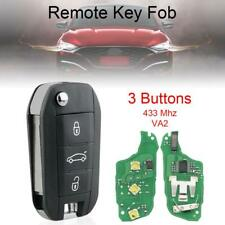 Fit For Peugeot 208 308 508 3 Button 433MHz KEY FOB Remote Key CASE ID46 blade