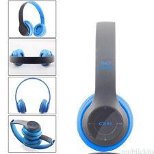 Wireless Bluetooth Headset Stereo Headphone Earphone MP3/MP4 FM Radio lot mk1