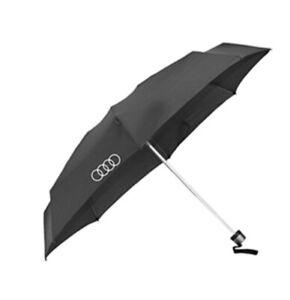 Audi Inverted Personal Umbrella Black Silver Genuine New
