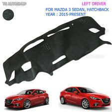 Lh Left Blk Cover Fit Mazda 3 Sedan Hatchback 2015 16 17 Dash Mat Dashmat Carpet