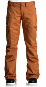 DC Recruit Snowboard Pants, Womens Extra Small (XS), Leather Brown New 2018