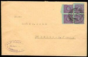 SBZ/Mecklenburg-Vorpommern Brief 4er Block Mi.-Nr.10x, Zölkow-Crivitz-Güstrow