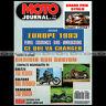 MOTO JOURNAL 1040 GUZZI NEVADA 750 YAMAHA VIRAGO SUZUKI 800 INTRUDER INDIAN 1992