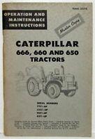 1964 Caterpillar 666 660 650 Tractors Operation & Maintenance Manual Master Copy
