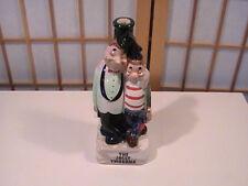 Vintage The Jolly Twosome Candle Holder former Barware Dispenser 1950'S Japan
