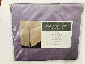 Charter Club Damask Twin Bedskirt, 100% Supima Cotton 500 Thread Count