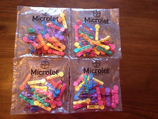 100 Bayer Microlet Multi-colored Lancets for Microlet2 Lancing Device