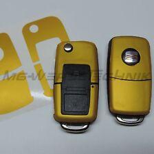 1S_Schlüssel-Dekor Cover SEAT Ibiza Leon Cupra Alhambra goldgelb metallic matt