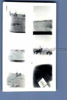 BLACK & WHITE PHOTO J_9813 MULTI SHOT OF HORSES IN FIELD