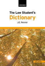 The Law Student's Dictionary by James Penner (Paperback, 2008)