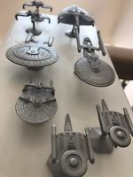 STAR TREK Rawcliffe Pewter Enterprise D Warbird Excelsior Reliant More Lot Of 8
