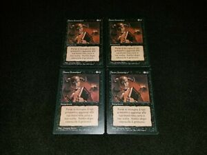 MTG 1x Revised black uncommon LP Italian FBB Demonic Tutor - ships w/ tracking