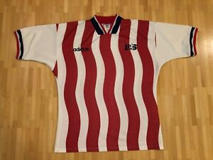 USA soccer US Vintage LARGE red 1994 national jersey shirt soccer Adidas N551