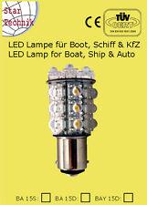 Ampoule 20 LED Superflux p.feux de position bateaux Nautisme navigation BA-15D