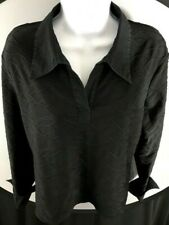 Apostrophe Women's Size XL(18) Black Stretch Top Long Sleeve Casual