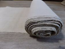 Antique homespum Linen Fabric 23x0,57m 1920s Light Cream Great condition