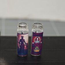 CHANGO & ELEGGUA x2 Miniature Dollhouse Prayer CANDLE Altar Voodoo Orisha Elegua